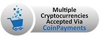 Pay via Bitcoin or other cryptocurrencies